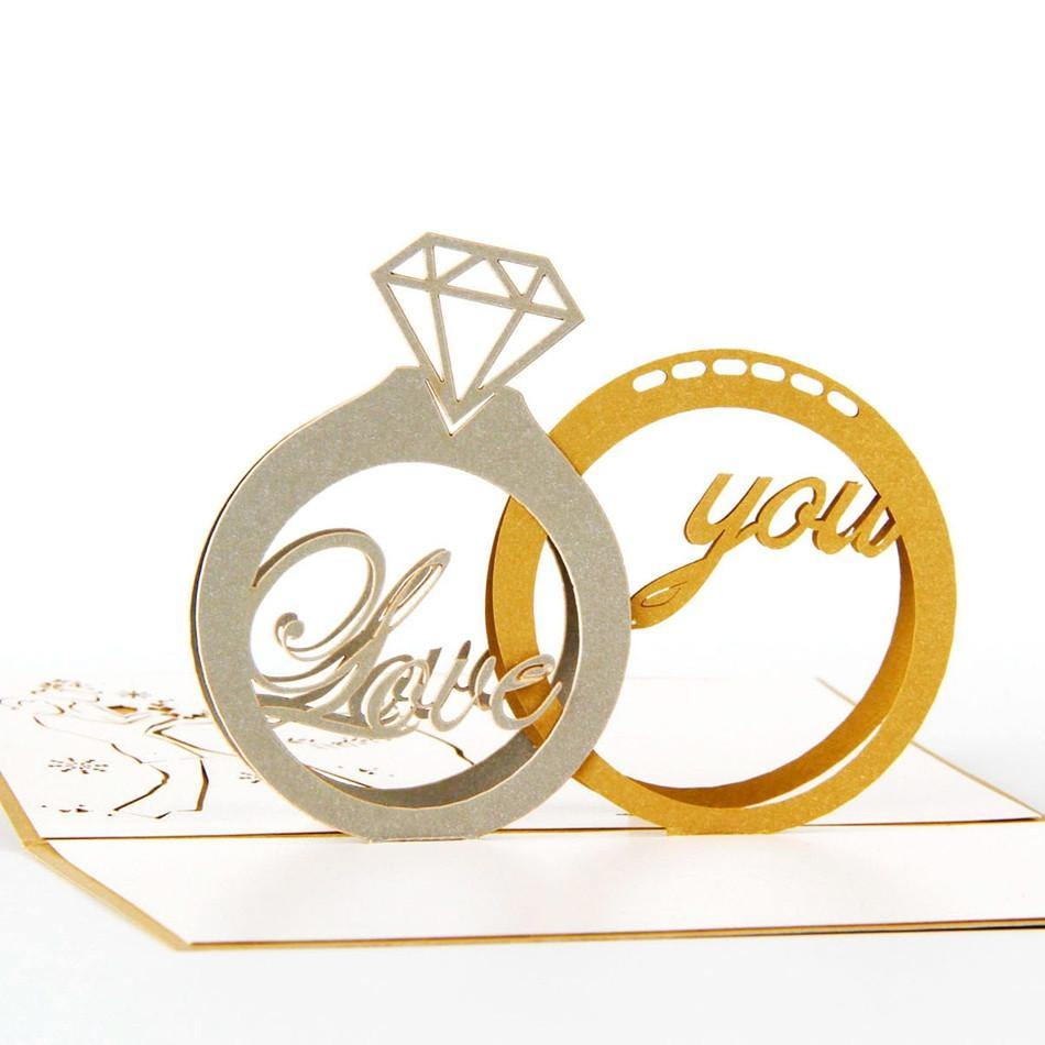 Diamond Ring Invitation &Greeting Card (Wedding /Engagement /Valentine)
