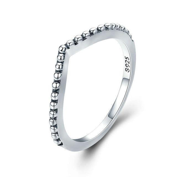 Water Droplet Clear CZ Ring Stack - 925 Sterling Silver