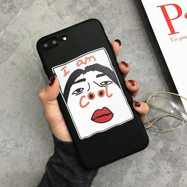 iphone cases protective phone covers apple xr xs max x 8 plus 7 6s 6 5 designer novelty humor funny cool unique unusual comics cartoon mobile shell protector charmerry a01