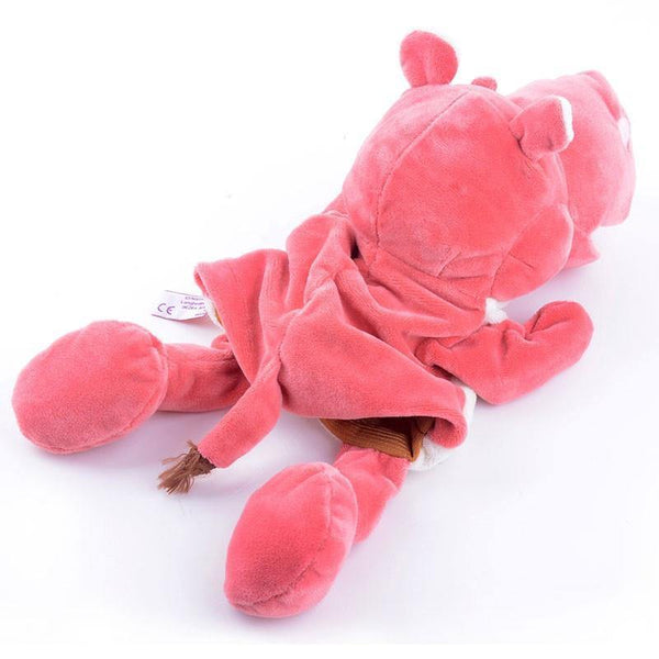 "Hippo Hand Puppet (Stuffed Hippo Learning Toy /Kids Plush Hippo Gift)[10"" /25cm]"