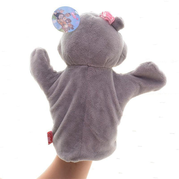 "Hippo Hand Puppet (Stuffed Hippo /Plush Hippo /Animal Hippo Toy Gift)[10"" /25cm]"