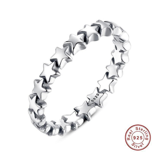 Star Trail Stackable Ring - 925 Sterling Silver