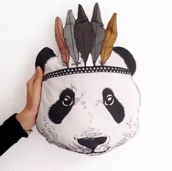Panda Pillow Cushion (Decorative Accent Pillow & Toss Throw Pillow)[Indians]