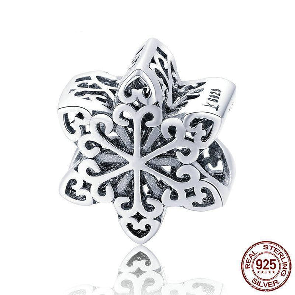 Openwork Snow Flack Charm - 925 Sterling Silver