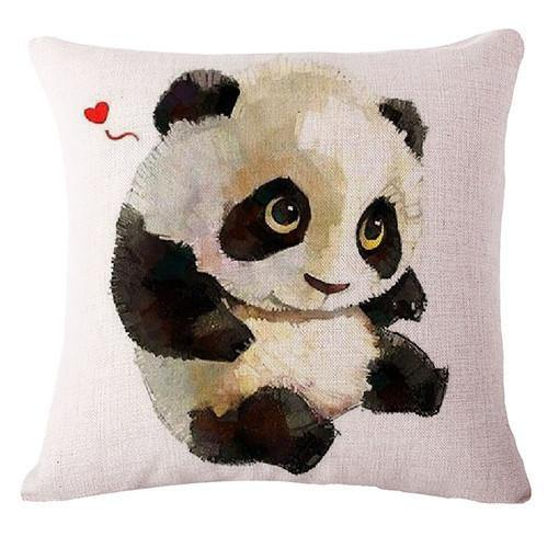 Panda Throw Pillow Cases (Accent Pillowcases /Decorative Cushion Covers)