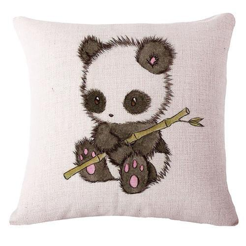Panda Throw Pillow Cases (Decorative Accent Pillowcases /Cushion Covers)