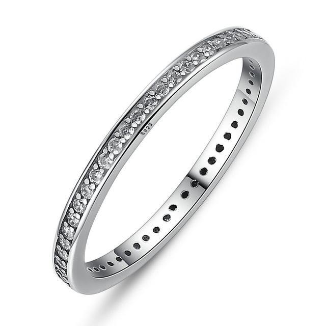 Color Dazzling Stackable Ring - 925 Sterling Silver
