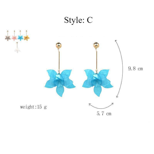 Elegant Floral Statement Earrings