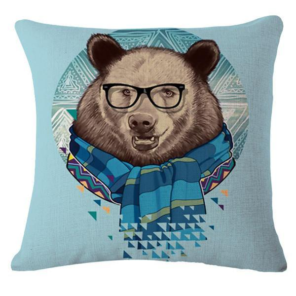 Bear Pillow Case (Accent Cushion Covers /Decorative Throw Pillowcases)