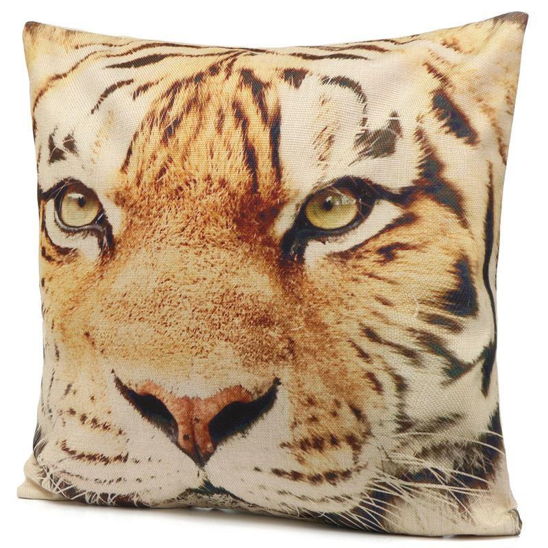 Tiger Pillow Case (3D Animal Accent Cushion Covers /Throw Pillowcases)
