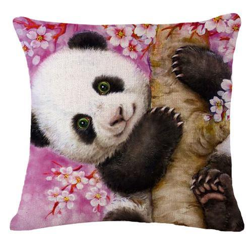 Panda Pillow Case (Accent Cushion Covers /Decorative Throw Pillowcases)[Panda on the tree]