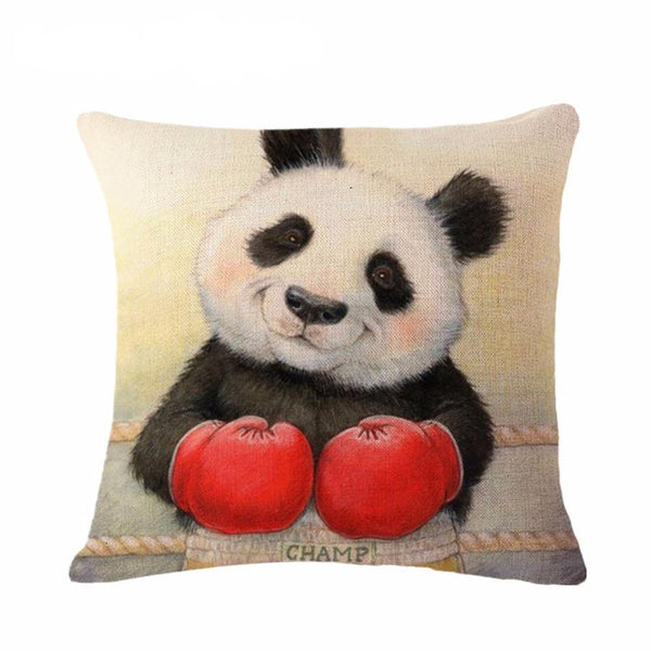 Panda Pillow Case (Creative Cushion Covers /Funny Throw Pillowcases)[Boxing]
