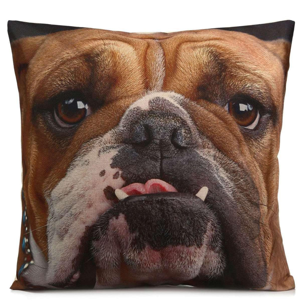 Dog Pillow Case (3D Bulldog Cushion Cover /Pet Puppy Throw Pillowcase)