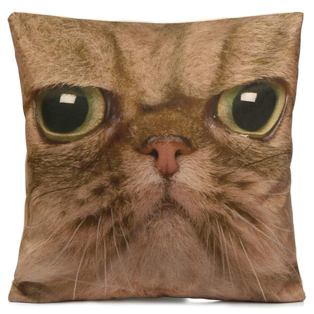 Cat Pillow Case /3D Animal Accent Cushion Cover /Pet Throw Pillowcase [Persian]
