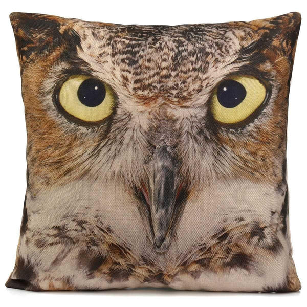 Owl Pillow Cases (3D Bird Accent Cushion Covers /Toss Throw Pillowcases)
