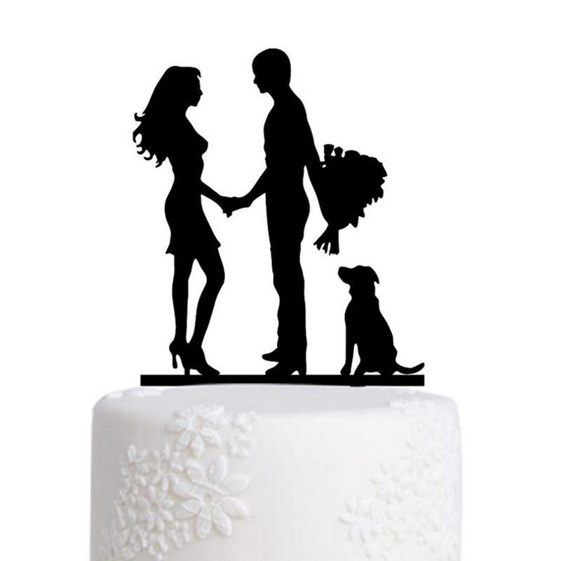 Engagement Wedding Cake Topper (Family /Dog Pet Puppy /Romantic Couple) - CHARMERRY
