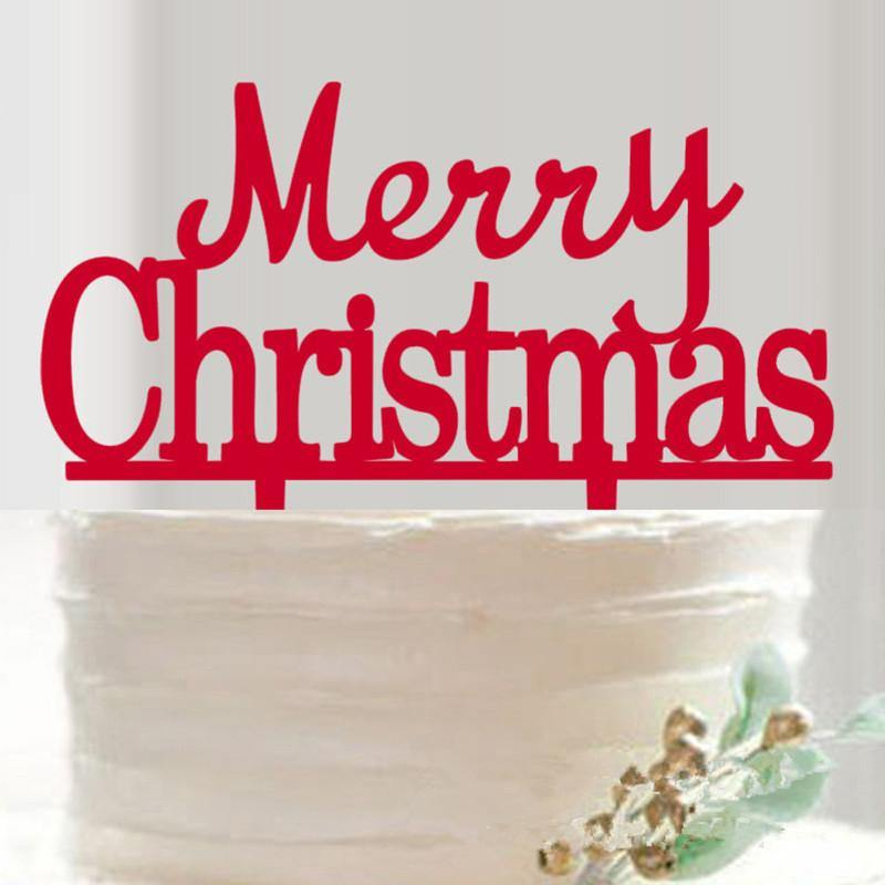 Merry Christmas Cake Topper /Bouquet Decoration (Happy Holiday /X'mas) - CHARMERRY