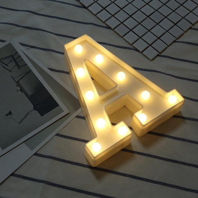 Letter Lights | LED Wedding Decor, Propose & Valentine's Day Ideas (Alphabet A to Z, Name, Words) - CHARMERRY