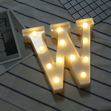 Load image into Gallery viewer, Letter Lights | LED Wedding Decor, Propose & Valentine's Day Ideas (Alphabet A to Z, Name, Words) - CHARMERRY
