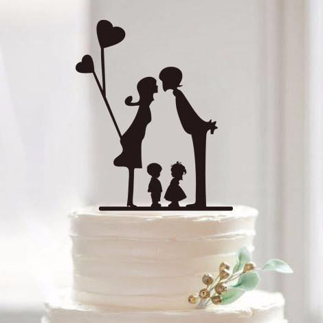 wedding cake toppers including child engagement wedding cake topper family children 26503