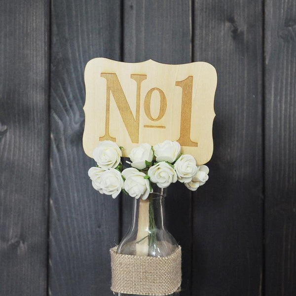 Table Numbers for Wedding Party Decorations ( Romantic Rustic /Vintage Theme) [1 to 10]