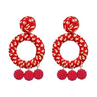 Circular Color Pop Drop Earrings