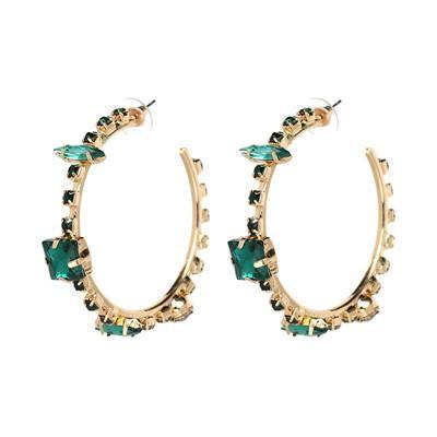 Fancy Zirconia Hoop Earrings