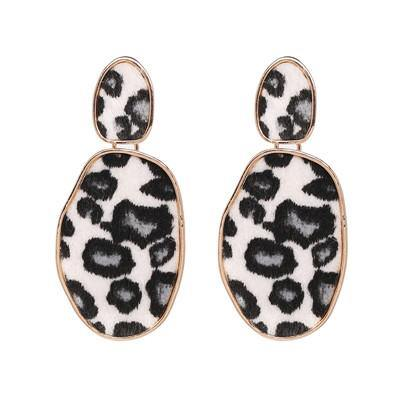 Glitter/ Animal/ Leopard Print Geo Drop Earring