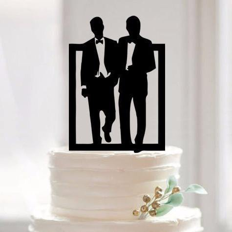 Wedding Cake Topper (Homosexual /Same-Sex Love /Gay Marriage /Mr & Mr)