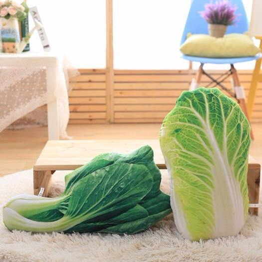 "Creative Stuffed Throw Pillow Gift /Unique Plush Soft Toy (Fun Unusual) [Vegetables /Bok Cho /19.7""]"