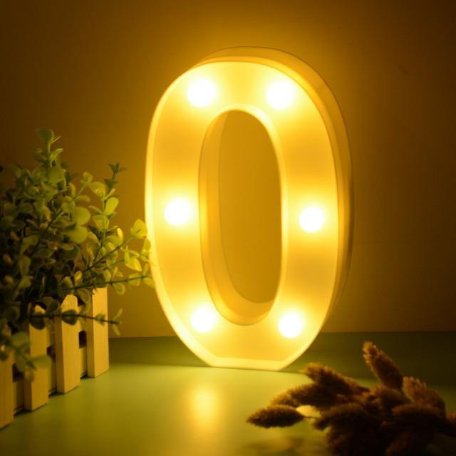 Number Lights | LED Wedding Decor, Propose & Valentine's Day Ideas (1 to 9)