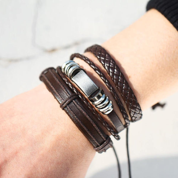 Leather Bracelets | Rocker, Biker, Street Style, Punk Outfit Additions & Accessories Charmerry a02