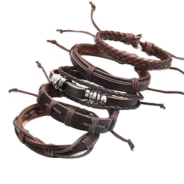 Leather Bracelets | Rocker, Biker, Street Style, Punk Outfit Additions & Accessories Charmerry a11