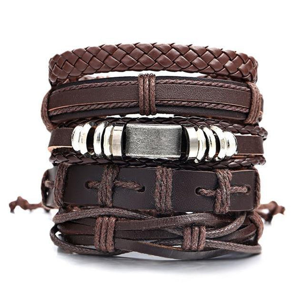 Leather Bracelets | Rocker, Biker, Street Style, Punk Outfit Additions & Accessories Charmerry a09