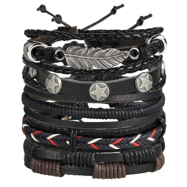 Leather Bracelets | Rocker, Biker, Street Style, Punk Outfit Additions & Accessories Charmerry a07