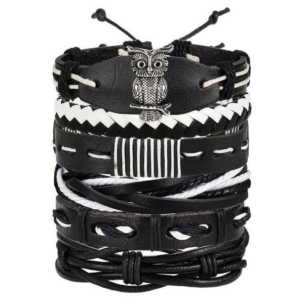 Leather Bracelets | Rocker, Biker, Street Style, Punk Outfit Additions & Accessories Charmerry a10