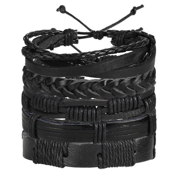 Leather Bracelets | Rocker, Biker, Street Style, Punk Outfit Additions & Accessories Charmerry a05