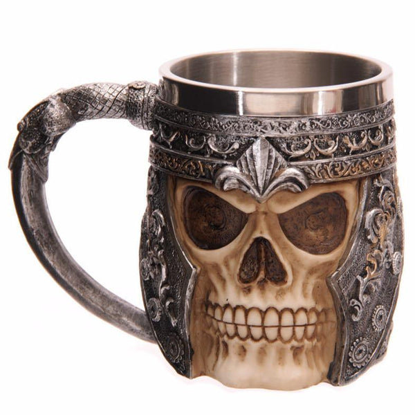 Skull Mug /Skeleton Tankard for Beer Coffee Tea (Creative Unique Gift)
