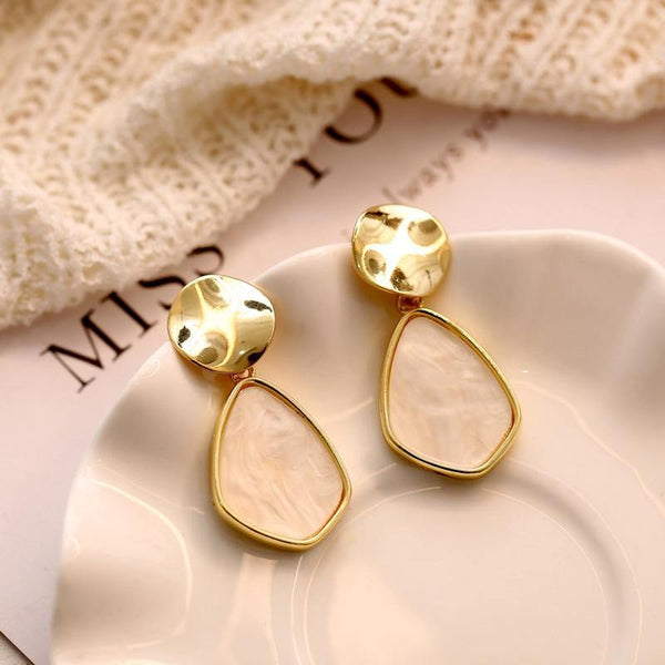 Dangle & Drop Earrings | Gold Silver, Simple Elegant Minimal Outfit Additions CHARMERRY A05