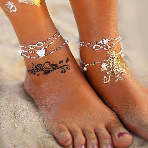 Beach Chic Anklets - Ankle Jewelry, Ankle Chains & Foot Bracelets | Outfit Additions & Accessories Charmerry b06