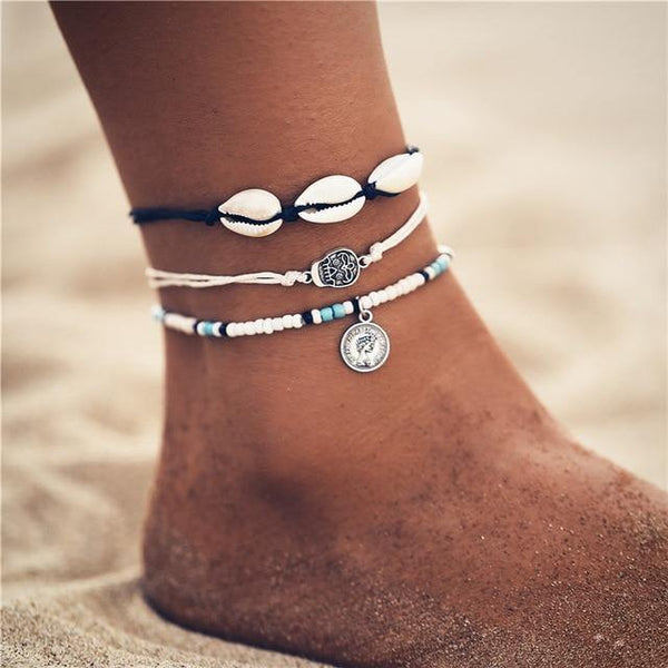 Beach Chic Anklets - Ankle Jewelry, Ankle Chains & Foot Bracelets | Outfit Additions & Accessories Charmerry b07