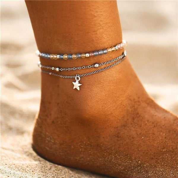 Beach Chic Anklets - Ankle Jewelry, Ankle Chains & Foot Bracelets | Outfit Additions & Accessories Charmerry b05