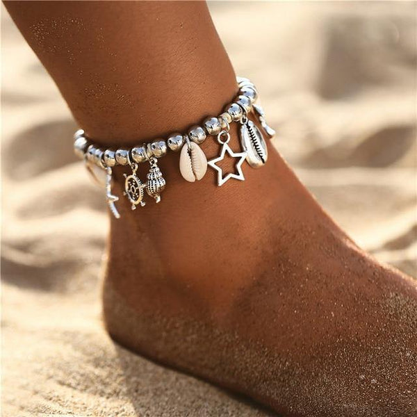 Beach Chic Anklets - Ankle Jewelry, Ankle Chains & Foot Bracelets | Outfit Additions & Accessories Charmerry b09