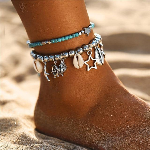 Beach Chic Anklets - Ankle Jewelry, Ankle Chains & Foot Bracelets | Outfit Additions & Accessories Charmerry b10