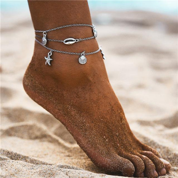 Summer Chic Anklets - Ankle Jewelry, Ankle Bracelets & Foot Chains  Outfit Additions & Accessories CHARMERRY B17