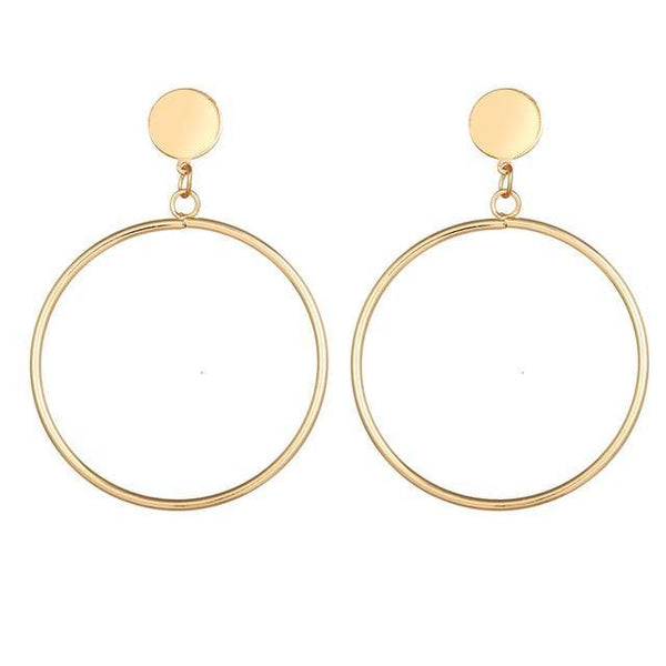 Dangle & Drop Earrings | Gold Silver, Simple Elegant Minimal Outfit Additions CHARMERRY A24