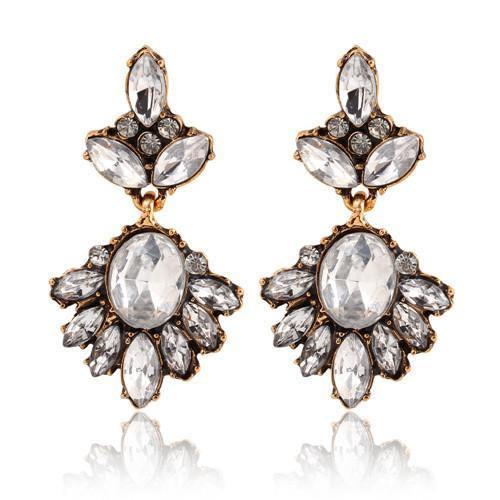 Vintage Zircon Drop Earring