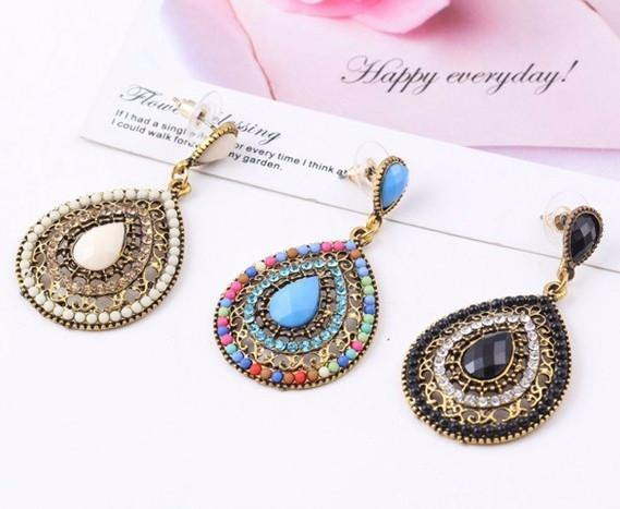Vintage Bohemian Beads Drop Earring