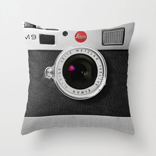 Cushion & Cover 3D Camera/ Leica Cushion Cover/ Pillowcase Creative Decoration - Charmerry