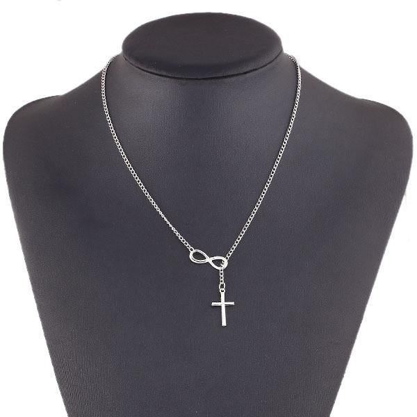 Cross & Infinity Statement Necklace